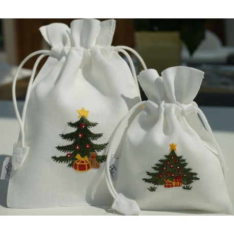 Bag christmas tree and present