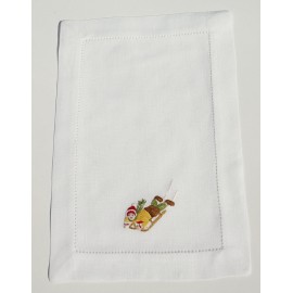 Cocktail napkin sleigh ride