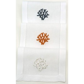 Cocktail napkin coral