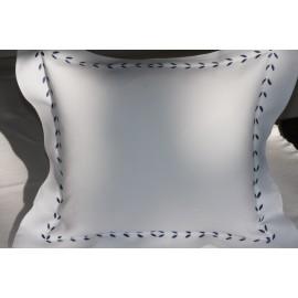 Bettwäsche mit weißem/grauem Rand